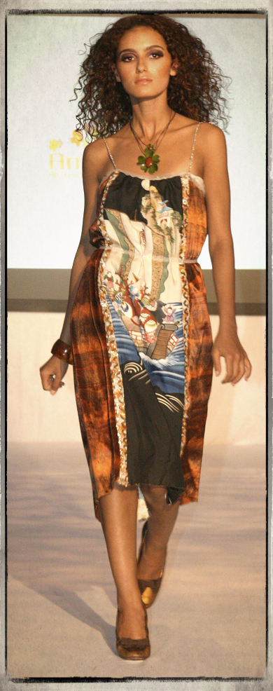 """Style """"Magical Forest"""" The Ocean of Love- Made from a Vintage Kimono, Upcycled 60's Sequined Dress, and 70's Printed Moire Velvet"""