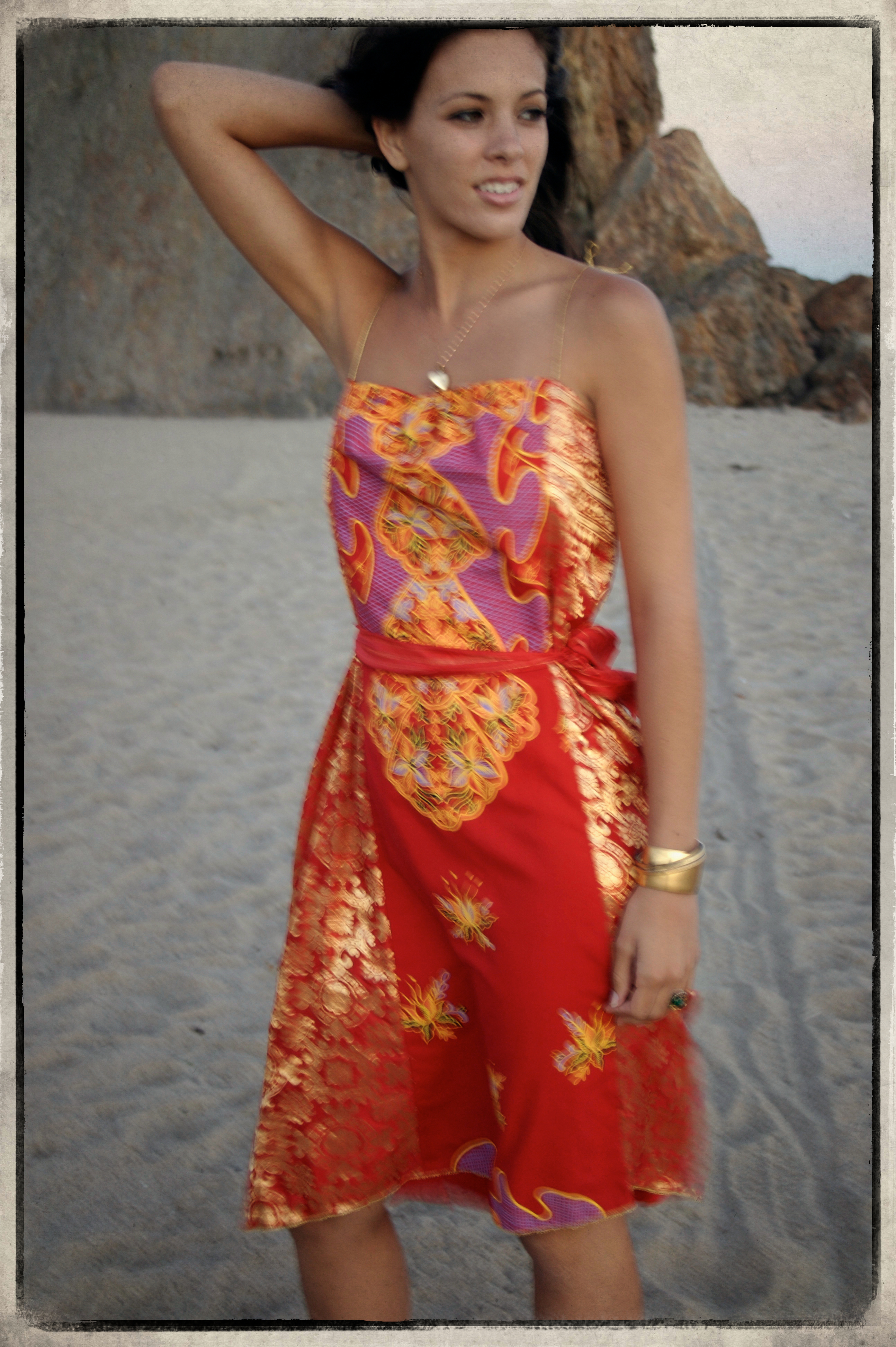 """Style """"Magical Forest"""" Egypt and India, Two Ancient Cultures Combined To Create Utopia- Made of a vintage Galibaya from Egypt and Vintage Wedding Sari from India"""
